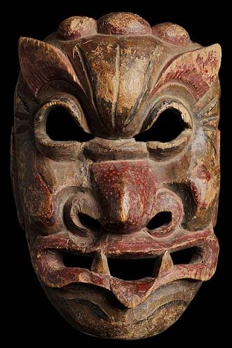 Antique Chinese Nuo Mask of Kailu