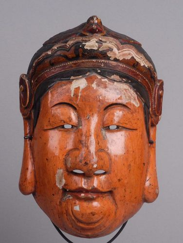 Antique Chinese Nuo Mask of Xienfang Xiaojie