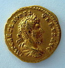 A ROMAN GOLD AUREUS OF MARCUS AURELIUS