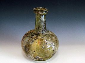 A HERODIAN GLASS FLASK