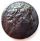 A SELEUCID SILVER TETRADRACHM OF ALEXANDER II ZEBINA