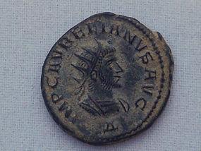 A ROMAN ANTONINIANUS OF AURELIAN AND VABALATHUS