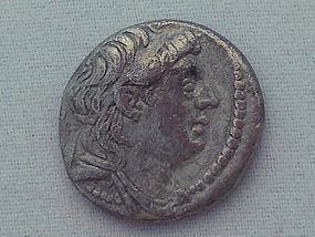 A SILVER DIDRACHM OF ANTIOCHUS VII
