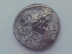 A SILVER TETRADRACHM OF DEMETRIOS II NIKATOR