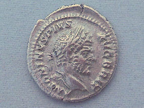 A SILVER DENARIUS OF CARACALLA