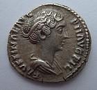 A ROMAN SILVER DENARIUS OF FAUSTINA THE YOUNGER