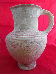 A CANAANITE TERRACOTTA JUG