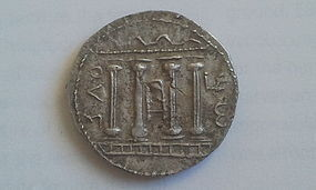 A SILVER TETRADRACHM (SELA) OF THE BAR KOCHBA REVOLT