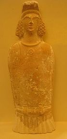 A BEIT NATIF TERRACOTTA FERTILITY GODDESS