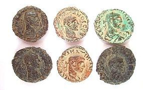 A LOT OF SIX ROMAN BILLON TETRADRACHMS OF ALEXANDRIA