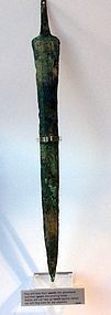 A CANAANITE BRONZE SWORD BLADE