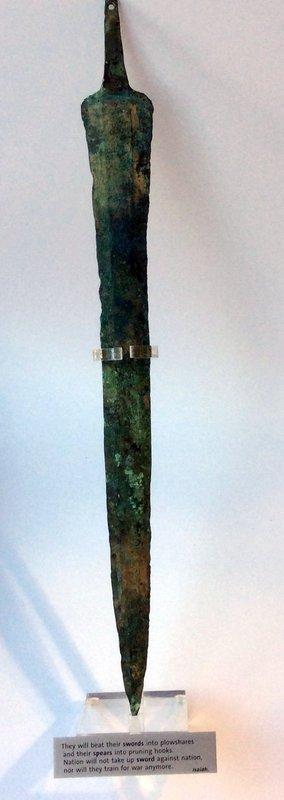 A CANAANITE BRONZE SWORD BLADE
