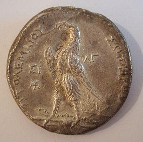 A SILVER TETRADRACHM OF PTOLEMY II PHILADELPHUS