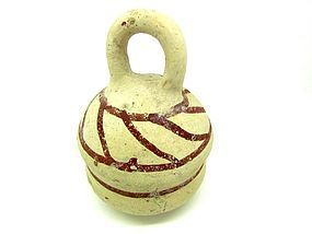 A BRONZE AGE TERRACOTTA RATTLE FROM THE HOLY LAND