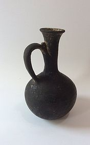 A CANAANITE BLACK SLIP JUGLET FROM THE HOLY LAND