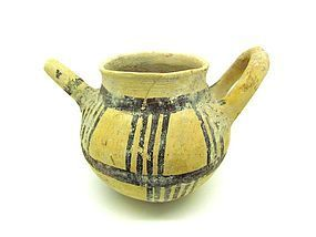 A CYPRIOT POTTERY TEAPOT