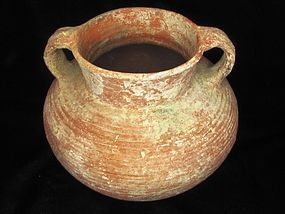 A HERODIAN TERRACOTTA COOKING POT