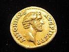 A RARE ROMAN GOLD AUREUS OF ANTONINUS PIUS