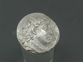 A SILVER TETRADRACHM OF DEMETRIOS II NICATOR