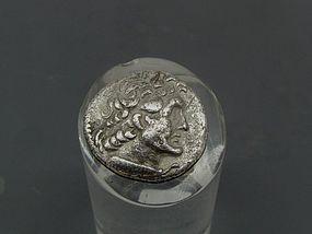 A RARE SILVER DIDRACHM OF PTOLEMY VI PHILOMETOR (160/59 BCE)
