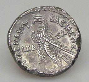 A SILVER TETRADRACHM OF PTOLEMY VI PHILOMETOR (158/7 BCE)