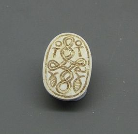 A CANAANITE STEATITE SCARAB