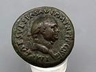 A RARE ROMAN BRONZE JUDAEA CAPTA SESTERIUS OF VESPASIAN