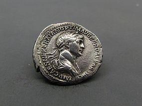 A ROMAN DENARIUS OF TRAJAN WITH FELICITAS