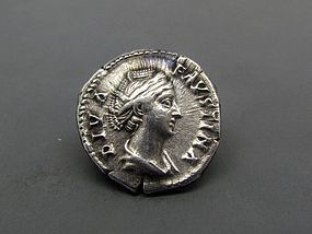 A ROMAN DENARIUS OF FAUSTINA I WITH CERES
