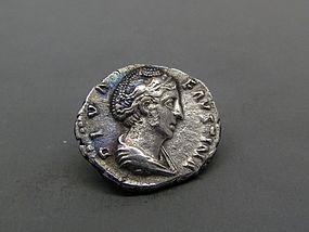 A  POSTHUMOUS ROMAN DENARIUS OF FAUSTINA I