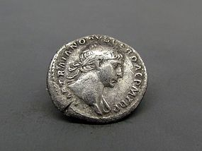 A ROMAN DENARIUS OF TRAJAN WITH TROPHY