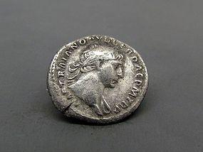 A ROMAN DENARIUS OF TRAJAN WITH TROPHY