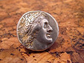 A SILVER TETRADRACHM OF PTOLEMY I SOTER