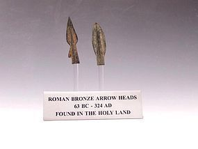 TWO ROMAN ARROWHEADS FROM THE HOLY LAND