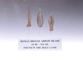 THREE ROMAN ARROWHEADS FROM THE HOLY LAND