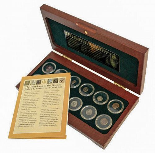THE HOLY LAND OF THE GOSPELS: JUDAEA 12 BRONZE COIN COLLECTION