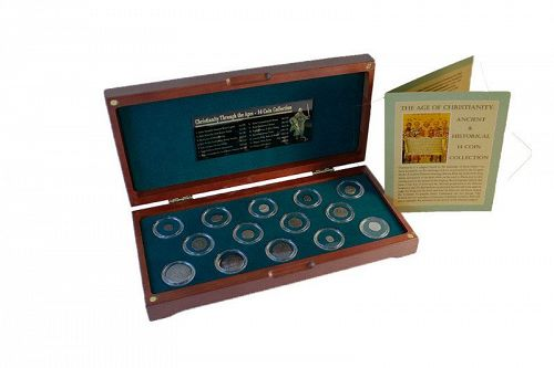 THE AGE OF CHRISTIANITY: ANCIENT AND HISTORICAL 14 COIN COLLECTION