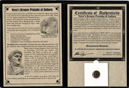PROCURATOR PORCIUS FESTUS: COINS MINTED IN THE NAME OF EMPEROR NERO