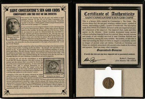 CONSTANTINE'S SUN GOD COIN: CHRISTIANITY AND THE CULT OF SOL INVICTUS