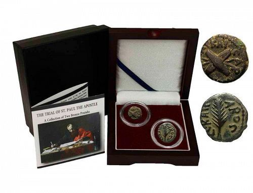 THE TRIAL OF ST. PAUL THE APOSTLE: A COLLECTION OF TWO BRONZE COINS