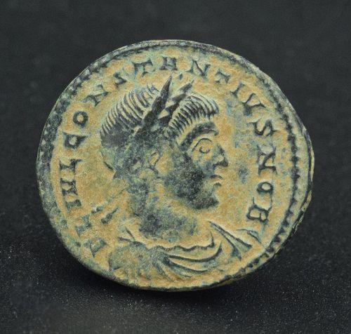 A BRONZE FOLLIS  OF CONSTANTIUS II