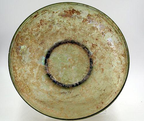 AN EASTERN MEDITERRANEAN GLASS DISH