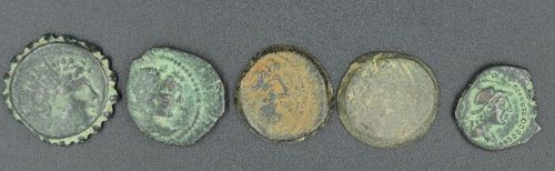 A FIVE COIN COLLECTION OF ANTIOCHUS VI-IX