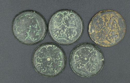 FIVE DIOBOLS OF THE PTOLEMAIC DYNASTY