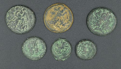 SIX PTOLEMAIC BRONZES FROM THE TYRE MINT