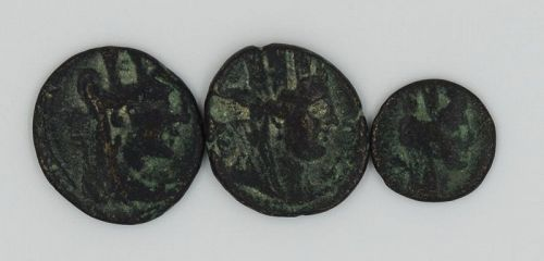 THREE BRONZE COINS OF TYRE