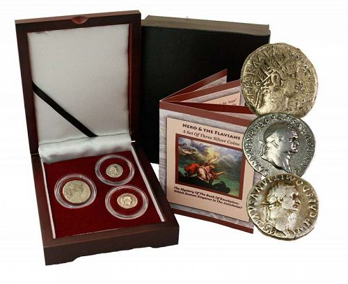 THE MYSTERY OF THE BOOK OF REVELATION: A BOX SET OF THREE SILVER COINS
