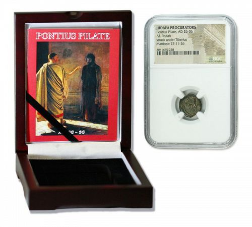 A BRONZE PRUTAH OF PONTIUS PILATE IN DISPLAY BOX (PREMIUM GRADE)