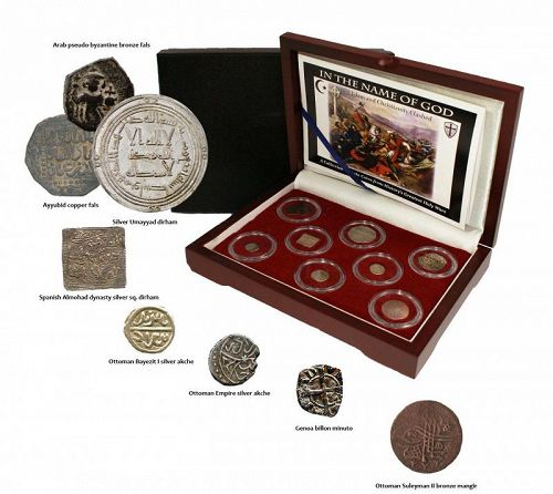 A COLLECTION OF EIGHT COINS FROM HISTORY�S GREATEST HOLY WARS