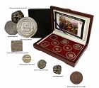 A COLLECTION OF EIGHT COINS FROM HISTORY'S GREATEST HOLY WARS